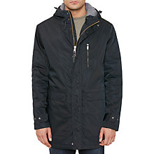 Buy Original Penguin Water Resistant Twill Quilted Parka Jacket, True Black Online at johnlewis.com