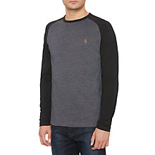 Buy Original Penguin Raglan T-Shirt, Dark Sapphire Heather Online at johnlewis.com
