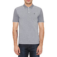 Buy Original Penguin Jacqaurd Polo Top, Dark Sapphire Online at johnlewis.com