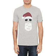 Buy Original Penguin Santa T-Shirt, Rain Heather Online at johnlewis.com