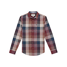 Buy Original Penguin Bold Check Shirt, Pomegranate Online at johnlewis.com