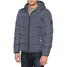 Buy Original Penguin Quilted Puffer Jacket, Medieval Blue Online at johnlewis.com