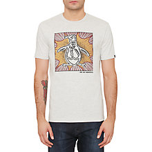 Buy Original Penguin Blast Pete T-Shirt, Erget Heather Online at johnlewis.com