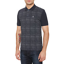 Buy Original Penguin Irregular Check Polo Shirt, Dark Sapphire Online at johnlewis.com
