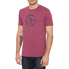 Buy Original Penguin Circle Logo T-shirt, Amaranth Online at johnlewis.com