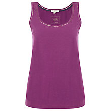 Buy White Stuff Tabitha Jersey Vest Top, Royal Purple Online at johnlewis.com