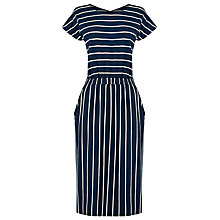 Buy Warehouse Stripe T-Shirt Dress, Blue Online at johnlewis.com