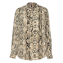 Buy NYDJ Animal Print Tie Neck Top, Cream Online at johnlewis.com