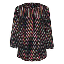 Buy NYDJ Fox Dots Print Blouse, Burgundy Online at johnlewis.com