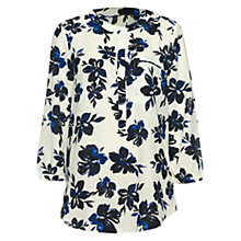 Buy NYDJ Fair Lady Floral Print Top, Cream Online at johnlewis.com