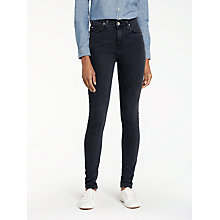 Buy Lee Scarlett High Waist Skinny Jeans, Charcoal Powder Online at johnlewis.com