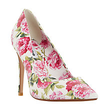 Buy Dune Bloom Pointed Toe Court Shoes, White Online at johnlewis.com