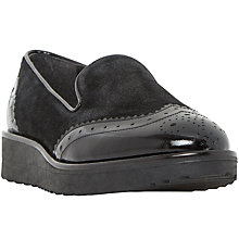Buy Dune Garner Flatform Loafers, Black Online at johnlewis.com