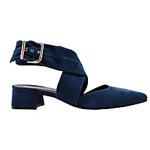 Buy Finery Stella Cross Strap Court Shoes, Navy Online at johnlewis.com