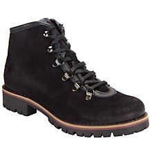 Buy John Lewis Petrina Lace Up Hiker Boots, Navy Online at johnlewis.com