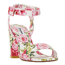 Buy Dune Marygold Block Heeled Sandals, White Online at johnlewis.com