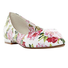 Buy Dune Harmonie Pointed Toe Pumps, White Online at johnlewis.com