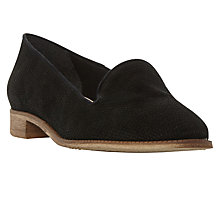 Buy Dune Grainge Slip On Loafers, Black Online at johnlewis.com
