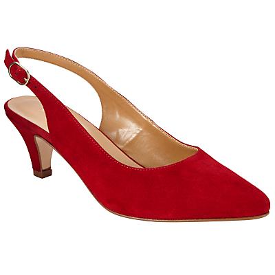 John Lewis Grace Kitten Heel Court Shoes Red Suede