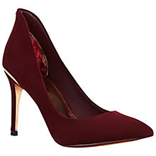 Buy Ted Baker Saviy Pointed Toe Court Shoes, Burgundy Online at johnlewis.com