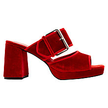 Buy Finery Holly Mule Block Heeled Sandals, Red Online at johnlewis.com