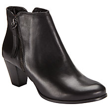 Buy John Lewis Poloma Side Zip Ankle Boots, Black Online at johnlewis.com