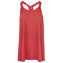 Buy Fat Face Wentworth Geo Tile Camisole, Burnt Red Online at johnlewis.com