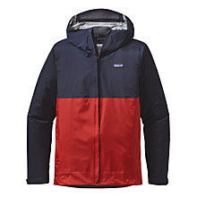 Buy Patagonia Torrentshell Waterproof Insulated Men's Jacket, Navy/Red Online at johnlewis.com