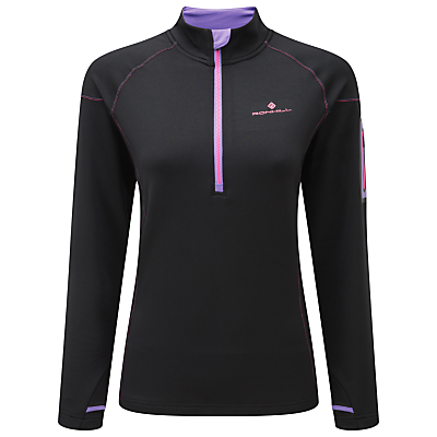 Ronhill Long Sleeve Running Top, Black/Lilac