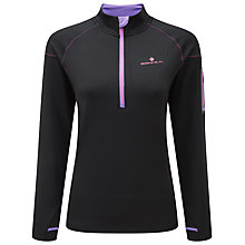 Buy Ronhill Long Sleeve Running Top, Black/Lilac Online at johnlewis.com