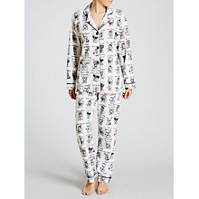 Buy PJ Salvage Dog Year Book Flannel Pyjama Set, Ivory/Multi Online at johnlewis.com