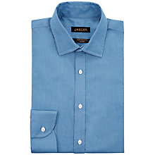 Buy Jaeger Chambray Modern Shirt, Blue Online at johnlewis.com