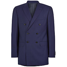 Buy Jaeger Puppytooth Double Breasted Classic Suit Jacket, Blue Online at johnlewis.com