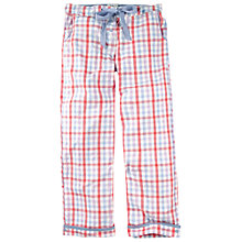 Buy Fat Face Hope Cove Gingham Pyjama Trousers, Coral Online at johnlewis.com