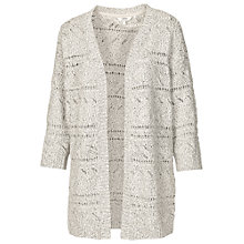 Buy Fat Face Pointelle Cardigan, Misty Surf Online at johnlewis.com