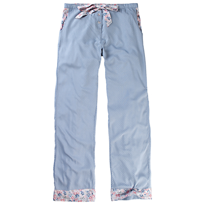 Fat Face Bossiney Floral Pyjama Bottoms, Chambray