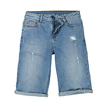 Buy Fat Face Denim Bermuda Short, Denim Online at johnlewis.com