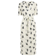 Buy Warehouse Stencil Floral Dress, Cream Online at johnlewis.com