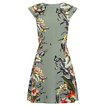 Buy Oasis Honolulu Skater Dress, Khaki Online at johnlewis.com