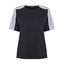 Buy Warehouse Poplin Mix T-Shirt, Multi Online at johnlewis.com
