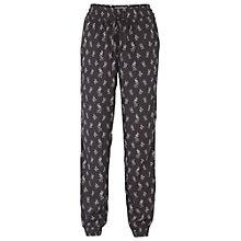 Buy Fat Face Peacock Print Trousers, Phantom Online at johnlewis.com