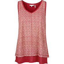 Buy Fat Face Polperro Geo Tank Top, Burnt Red Online at johnlewis.com