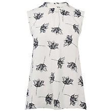 Buy Warehouse Stencil Floral Tie Back Top Online at johnlewis.com