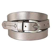Buy White Stuff Metallic Belt, Silver Online at johnlewis.com