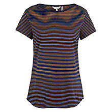 Buy Fat Face Breton T-Shirt, Navy Online at johnlewis.com