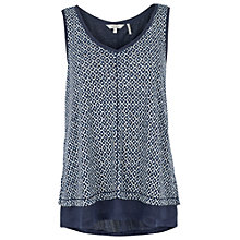 Buy Fat Face Polperro Temple Geo Tank Top, Navy Online at johnlewis.com