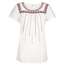 Buy Fat Face Callie Embroidered T-shirt Online at johnlewis.com