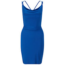 Buy Miss Selfridge Strappy Slinky Dress, Blue Online at johnlewis.com
