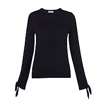 Buy Whistles Tie Cuff Sleeve Top, Navy Online at johnlewis.com