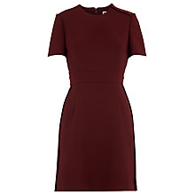 Buy Whistles Ella Popper Side Dress, Burgandy Online at johnlewis.com